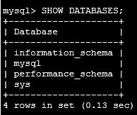 showdatabases