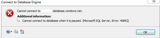 database has been paused all about sql